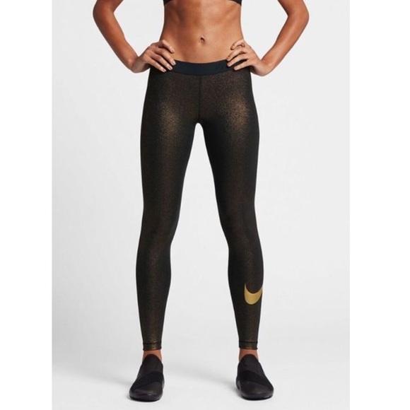 6225f97cf9a830 Nike Pants | Pro Sparkle Training Tights 881778010 | Poshmark